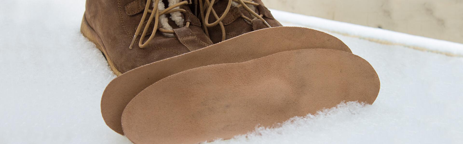 Fil.Pell scarpe e plantari nella neve